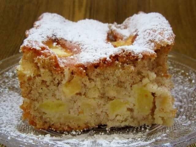 עוגת תפוחים בחושה טעימה