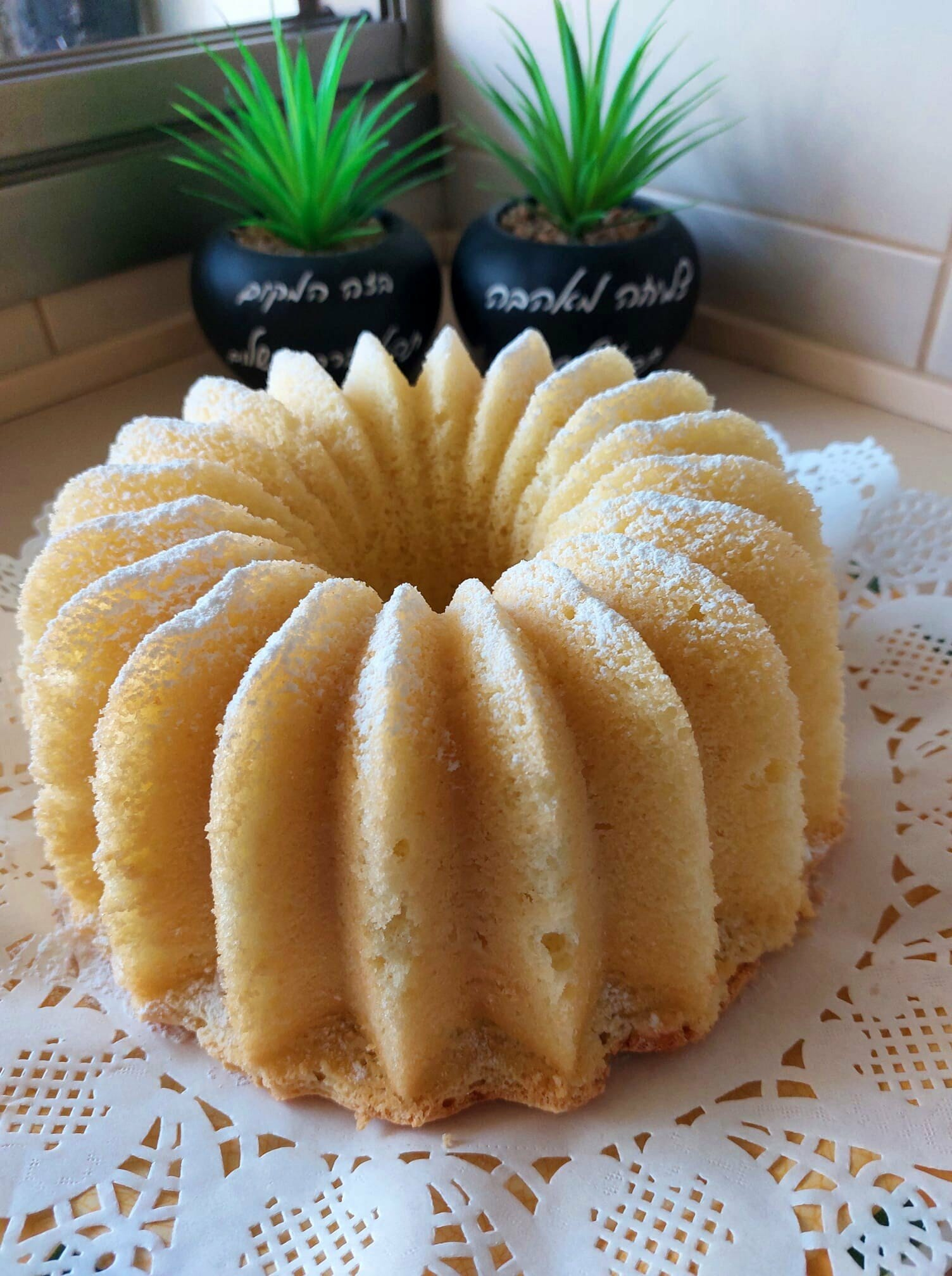 עוגת לימון אוורירית
