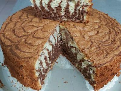 עוגת שיש זברה 2